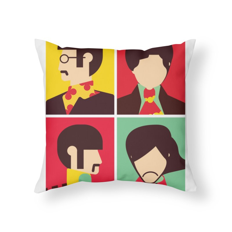The Fab Four - Minimalist Home Throw Pillow by quadrin's Artist Shop