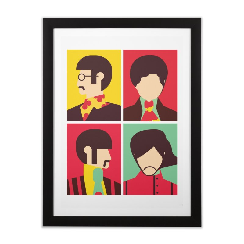 The Fab Four - Minimalist Home Framed Fine Art Print by quadrin's Artist Shop