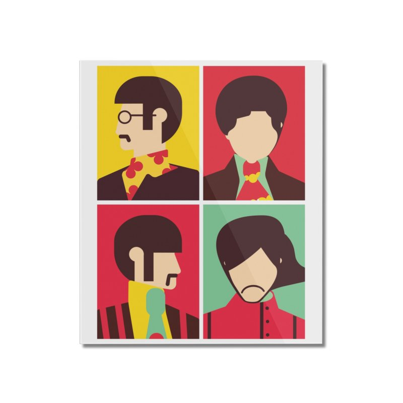 The Fab Four - Minimalist Home Mounted Acrylic Print by quadrin's Artist Shop