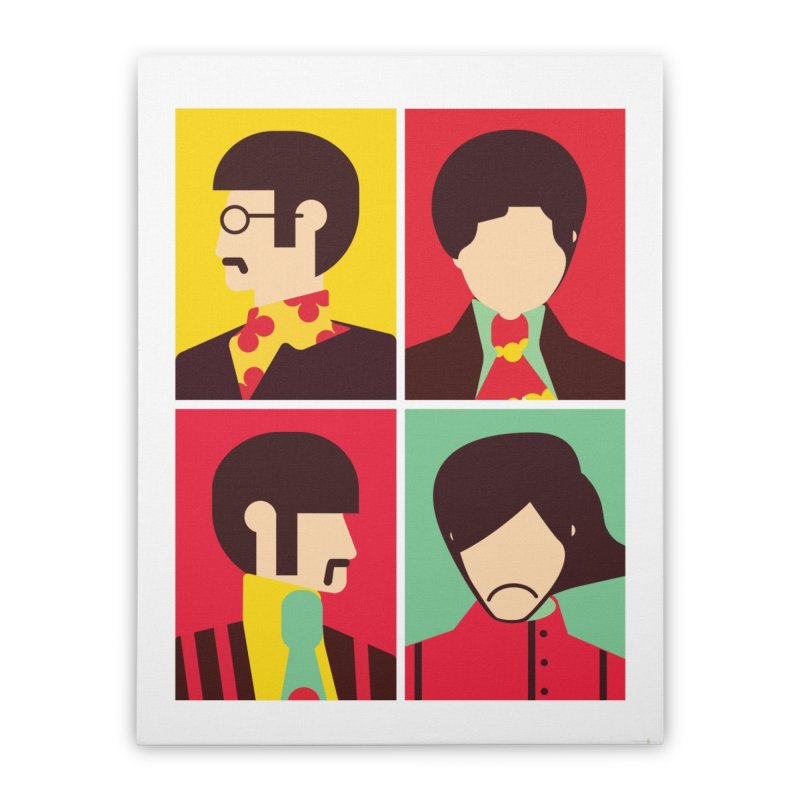 The Fab Four - Minimalist Home Stretched Canvas by quadrin's Artist Shop