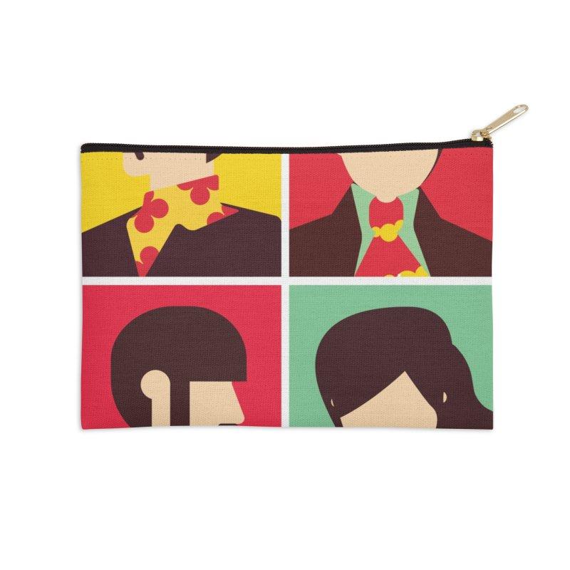 The Fab Four - Minimalist Accessories Zip Pouch by quadrin's Artist Shop