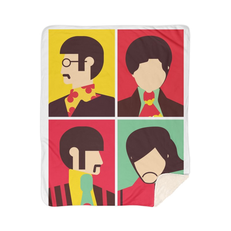 The Fab Four - Minimalist Home Blanket by quadrin's Artist Shop