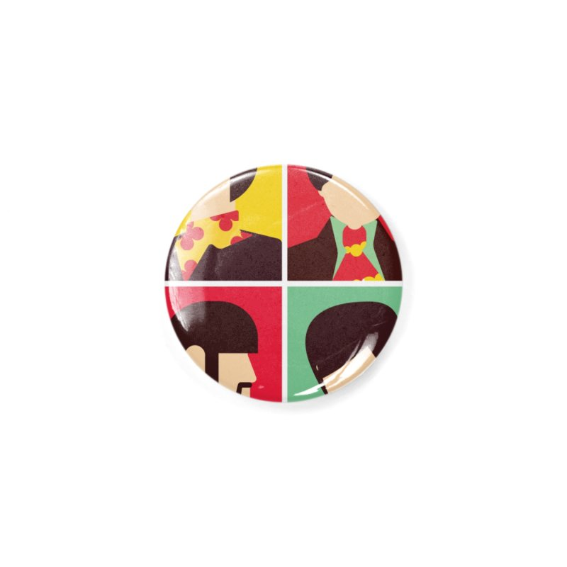 The Fab Four - Minimalist Accessories Button by quadrin's Artist Shop