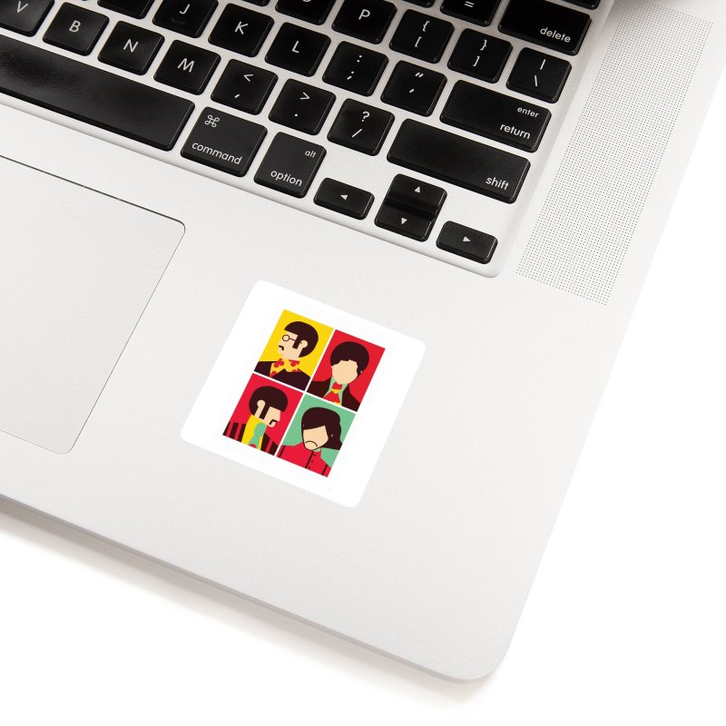 The Fab Four - Minimalist Accessories Sticker by quadrin's Artist Shop