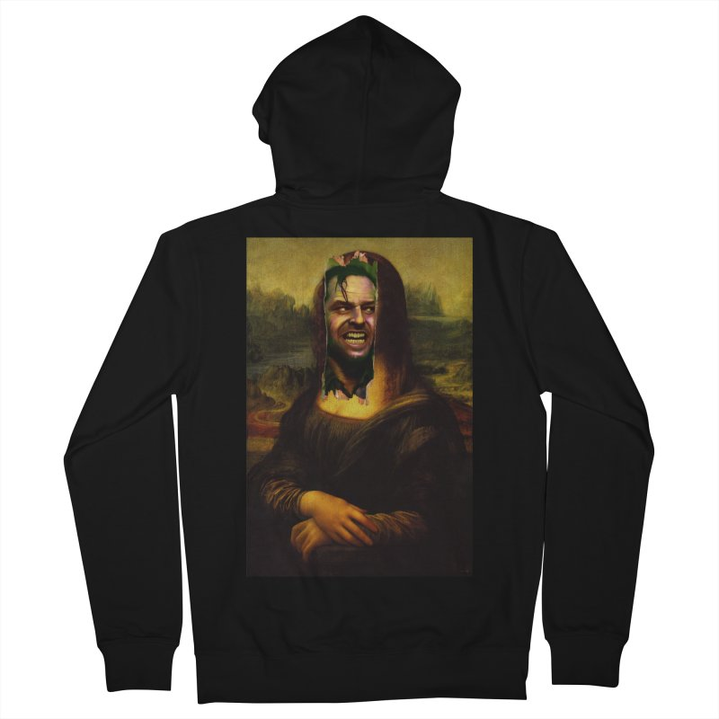 Heres Mona Men's Zip-Up Hoody by quadrin's Artist Shop