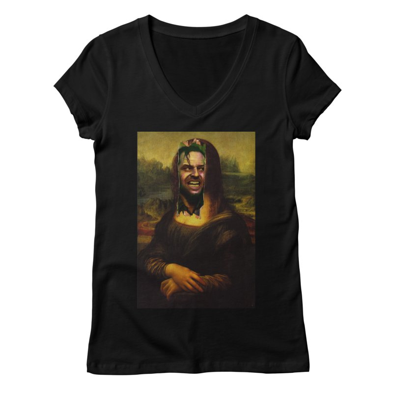Heres Mona Women's V-Neck by quadrin's Artist Shop