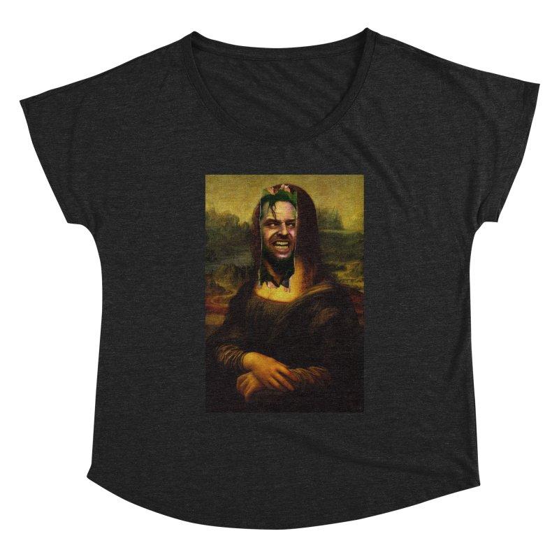 Heres Mona Women's Scoop Neck by quadrin's Artist Shop