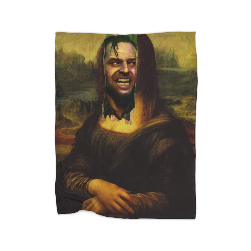Heres Mona Home Blanket by quadrin's Artist Shop