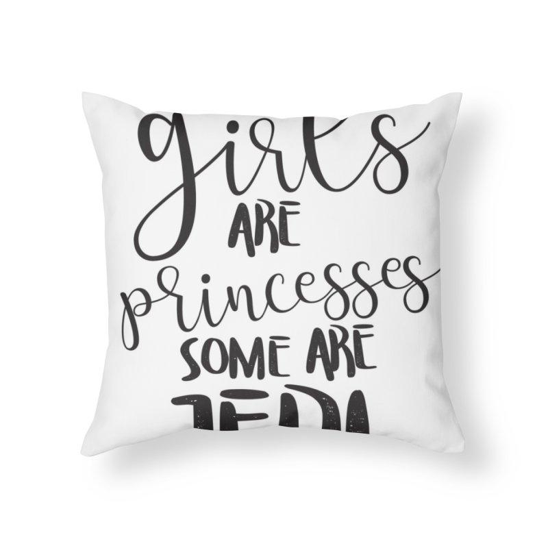 Jedi Girls Home Throw Pillow by quadrin's Artist Shop