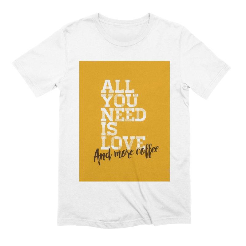 Love & Coffee Men's T-Shirt by quadrin's Artist Shop