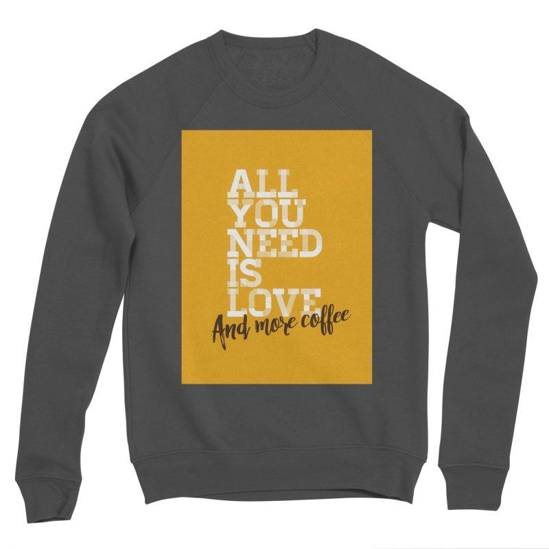 Love & Coffee Men's Sweatshirt by quadrin's Artist Shop