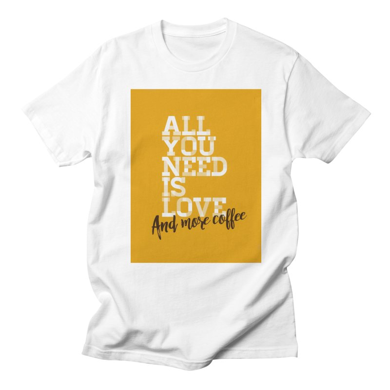 Love & Coffee Men's T-Shirt by quadrin's Artist Shop