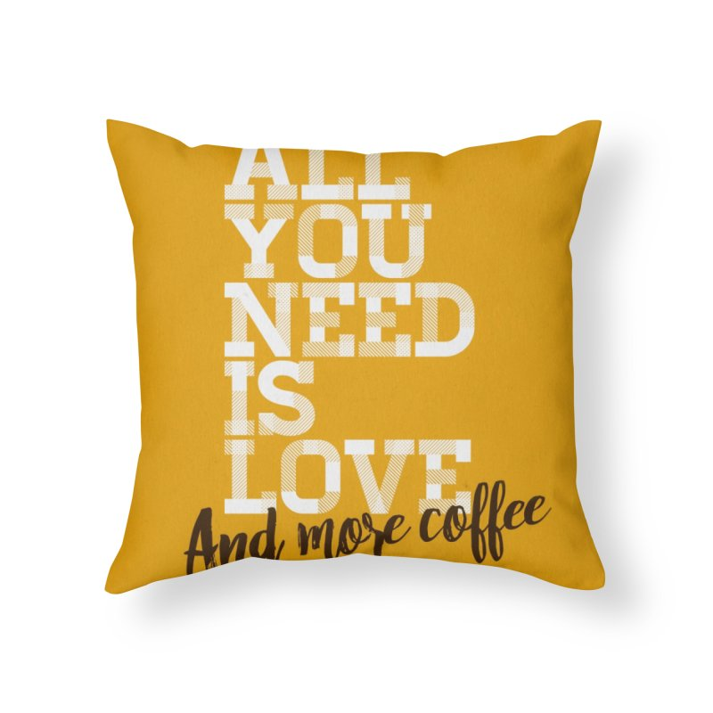 Love & Coffee Home Throw Pillow by quadrin's Artist Shop