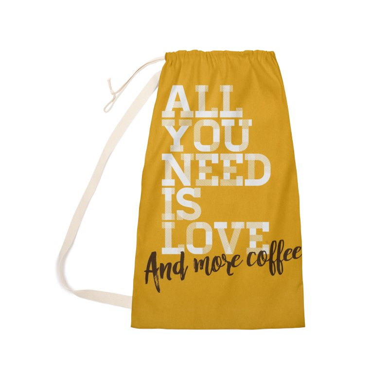 Love & Coffee Accessories Bag by quadrin's Artist Shop