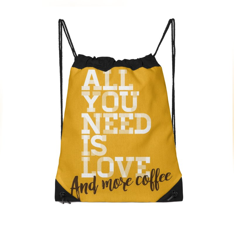 Love & Coffee Accessories Bag by quadrin's Artist Shop