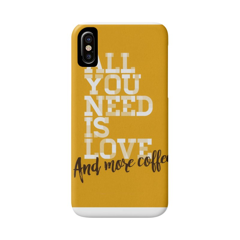 Love & Coffee Accessories Phone Case by quadrin's Artist Shop