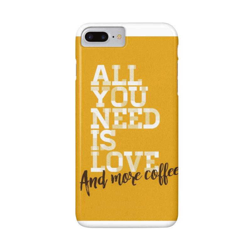 Love & Coffee Accessories Phone Case by quadrin's Artist Shop