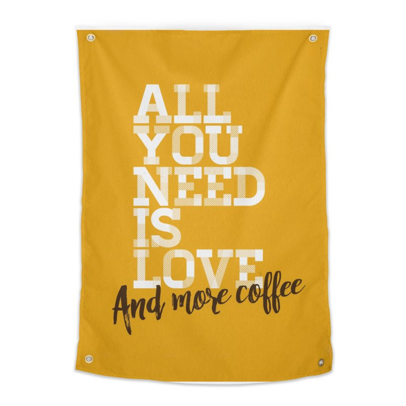 Love & Coffee Home Tapestry by quadrin's Artist Shop
