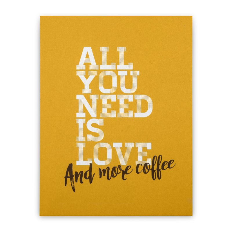 Love & Coffee Home Stretched Canvas by quadrin's Artist Shop
