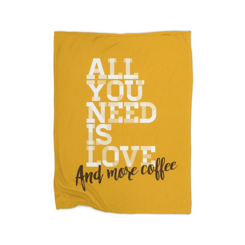 Love & Coffee Home Blanket by quadrin's Artist Shop