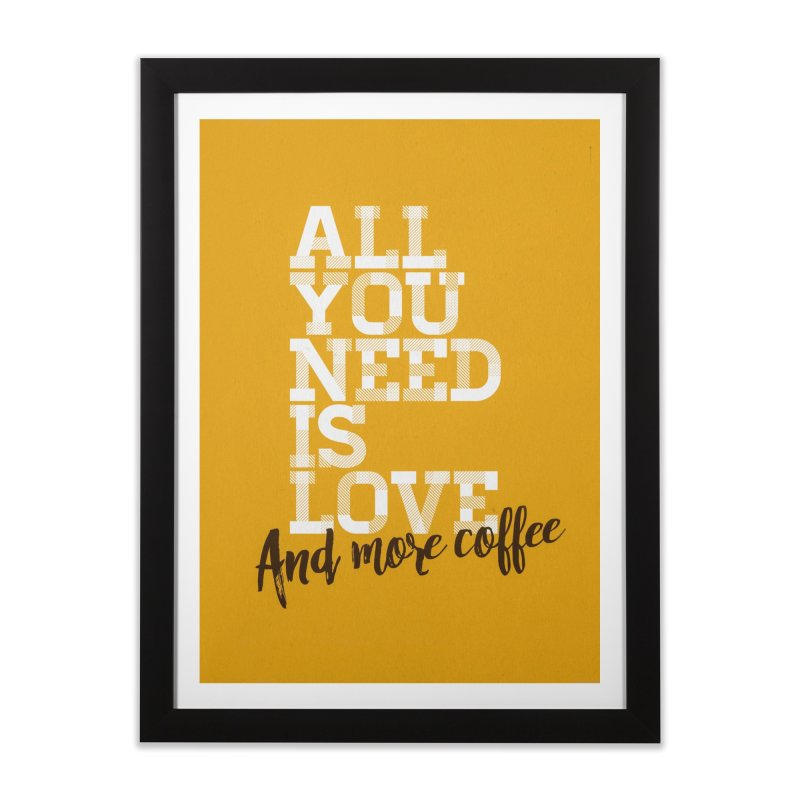 Love & Coffee Home Framed Fine Art Print by quadrin's Artist Shop