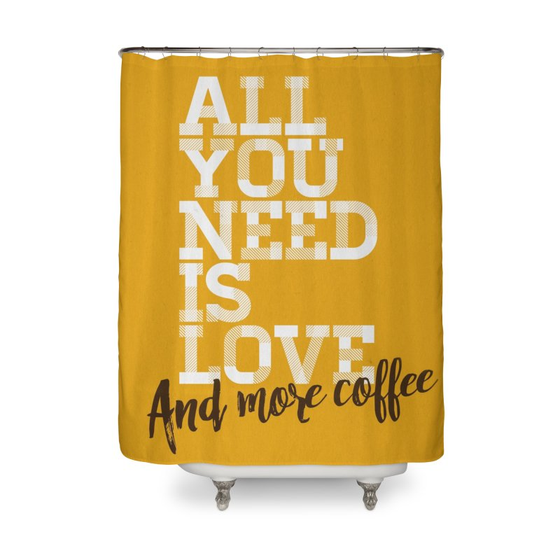 Love & Coffee Home Shower Curtain by quadrin's Artist Shop