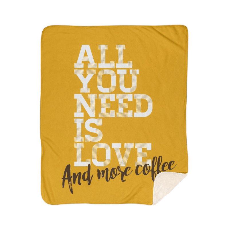 Love & Coffee Home Blanket by quadrin's Artist Shop