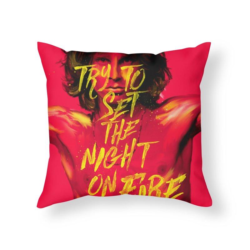 Light my fire Home Throw Pillow by quadrin's Artist Shop
