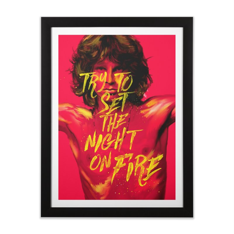 Light my fire Home Framed Fine Art Print by quadrin's Artist Shop