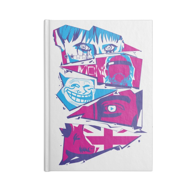 Black Mirror Accessories Blank Journal Notebook by quadrin's Artist Shop