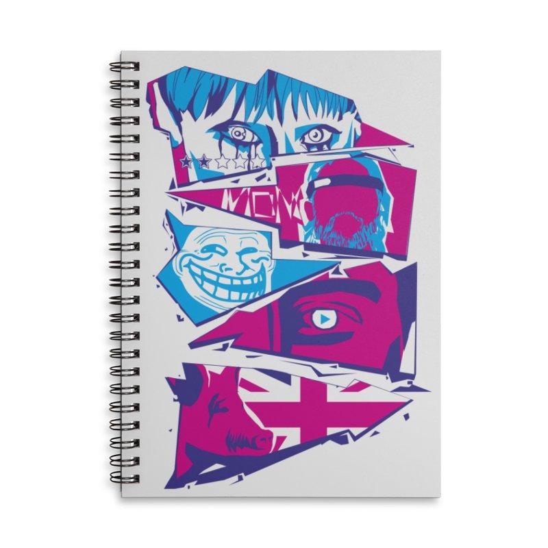 Black Mirror Accessories Lined Spiral Notebook by quadrin's Artist Shop
