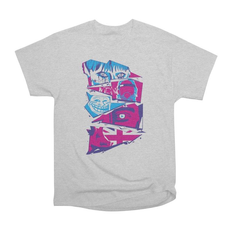 Black Mirror Men's Heavyweight T-Shirt by quadrin's Artist Shop