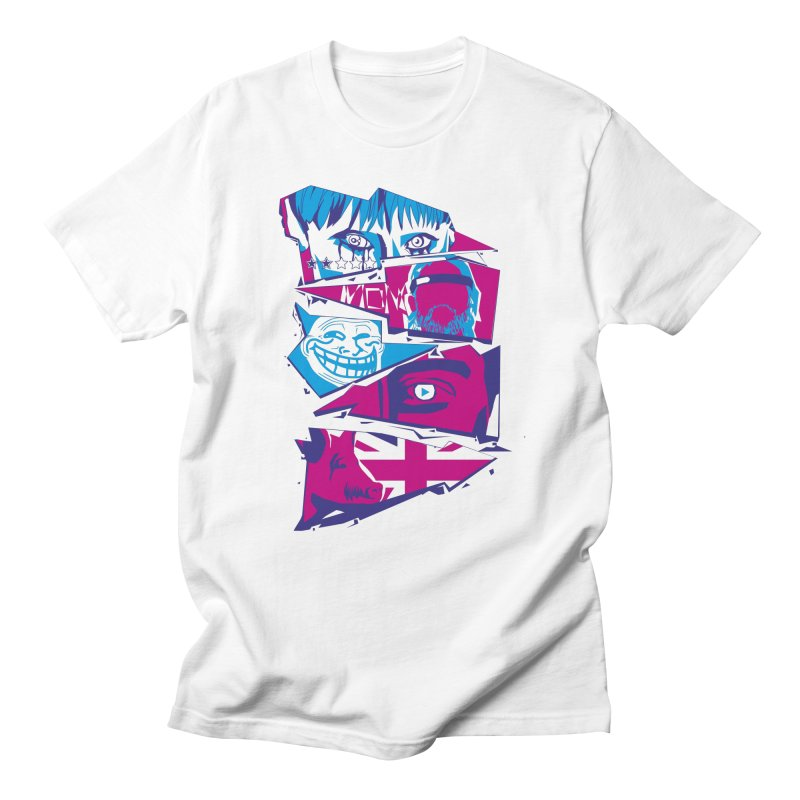 Black Mirror Men's Regular T-Shirt by quadrin's Artist Shop