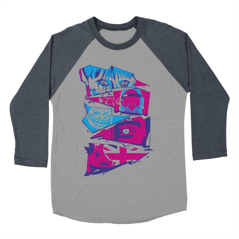 Black Mirror Men's Baseball Triblend Longsleeve T-Shirt by quadrin's Artist Shop