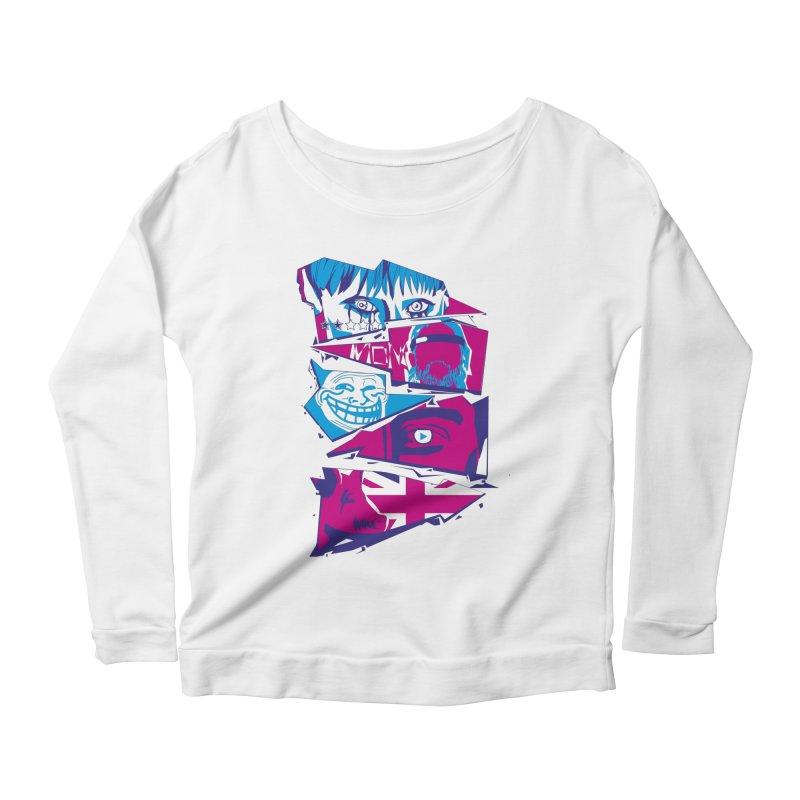 Black Mirror Women's Scoop Neck Longsleeve T-Shirt by quadrin's Artist Shop