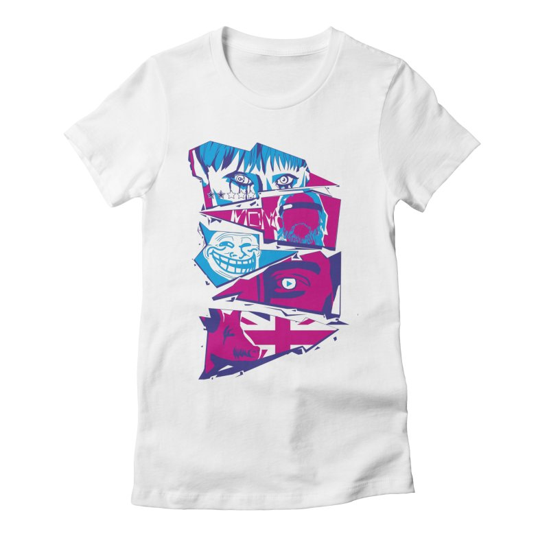 Black Mirror Women's Fitted T-Shirt by quadrin's Artist Shop