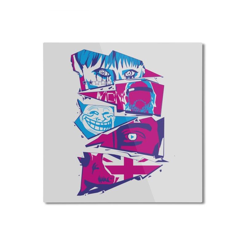 Black Mirror Home Mounted Aluminum Print by quadrin's Artist Shop