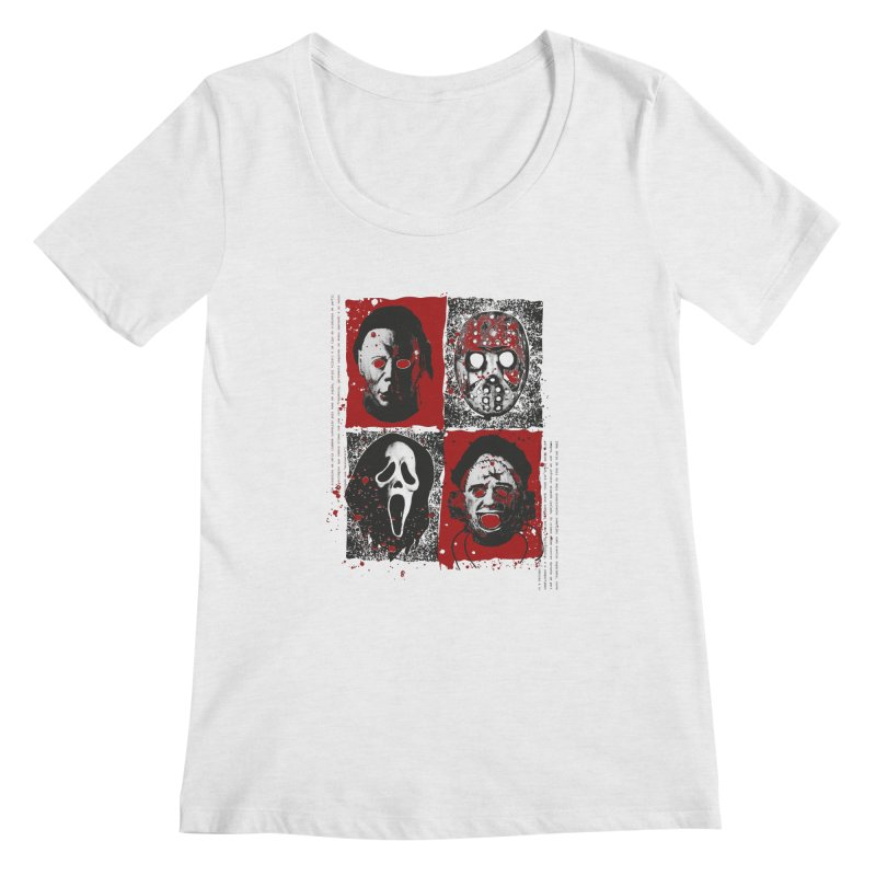 Serial Killers Women's Regular Scoop Neck by quadrin's Artist Shop
