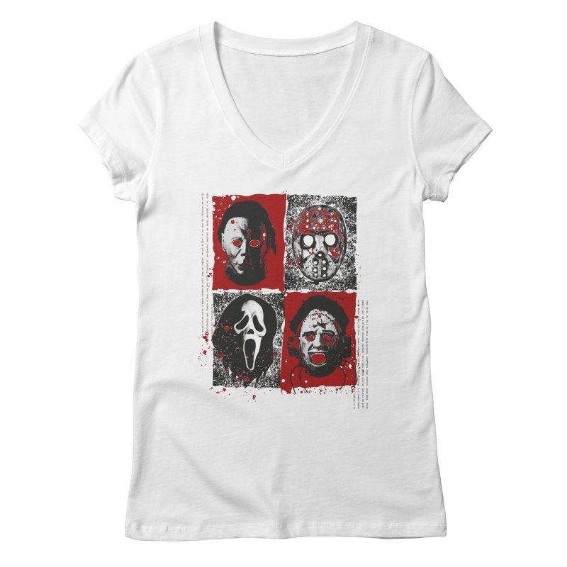 Serial Killers Women's Regular V-Neck by quadrin's Artist Shop
