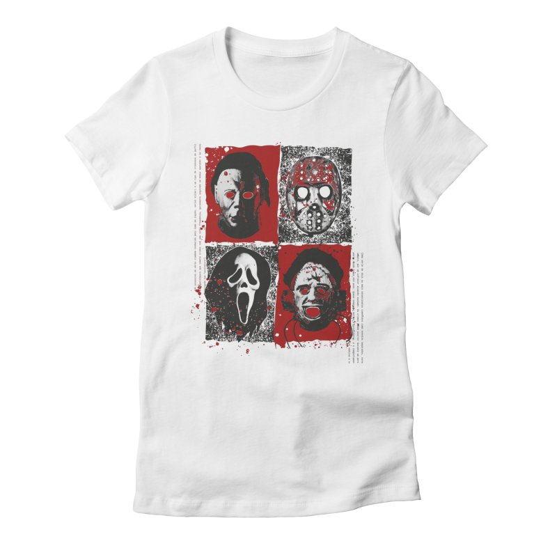 Serial Killers Women's Fitted T-Shirt by quadrin's Artist Shop
