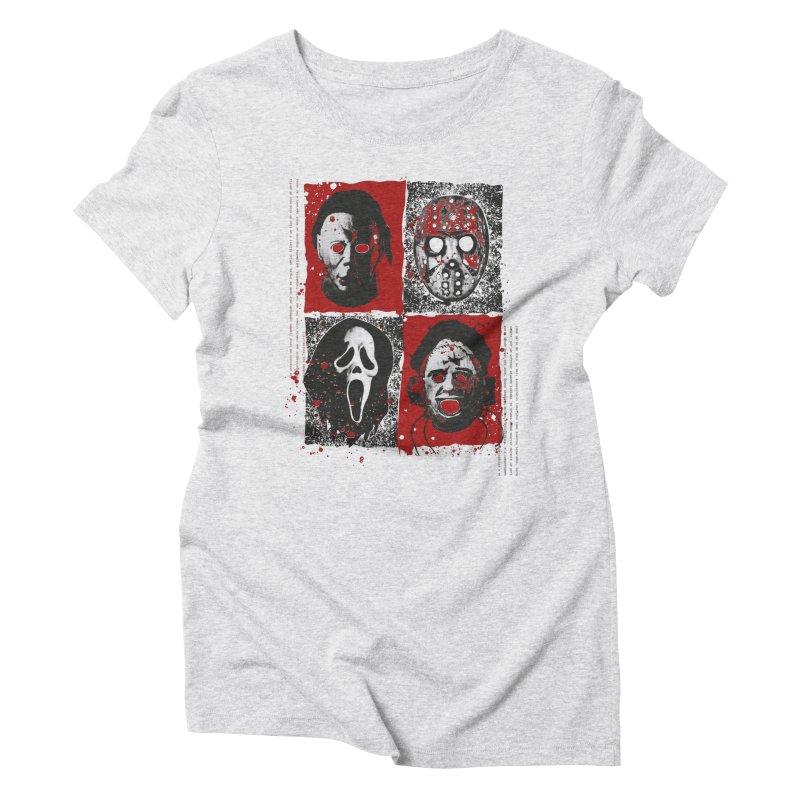 Serial Killers Women's Triblend T-Shirt by quadrin's Artist Shop