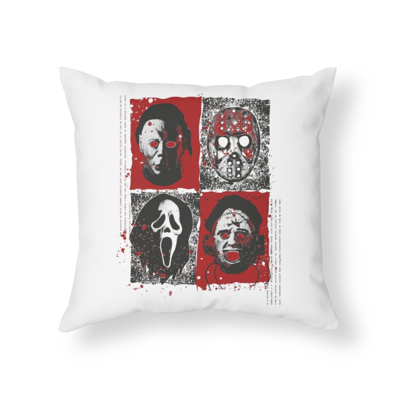 Serial Killers Home Throw Pillow by quadrin's Artist Shop