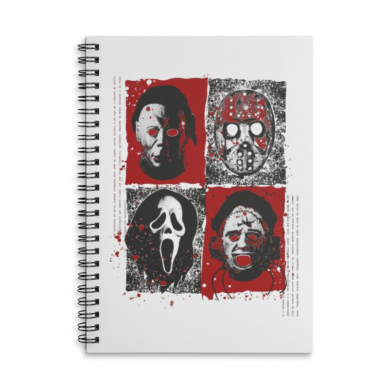 Serial Killers Accessories Lined Spiral Notebook by quadrin's Artist Shop