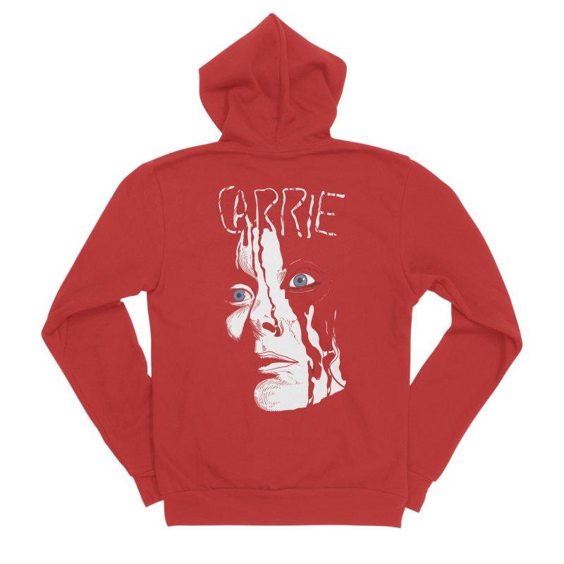 Carrie Men's Sponge Fleece Zip-Up Hoody by quadrin's Artist Shop