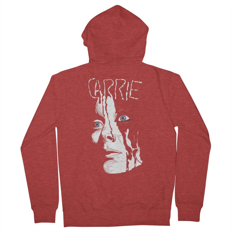 Carrie Men's French Terry Zip-Up Hoody by quadrin's Artist Shop