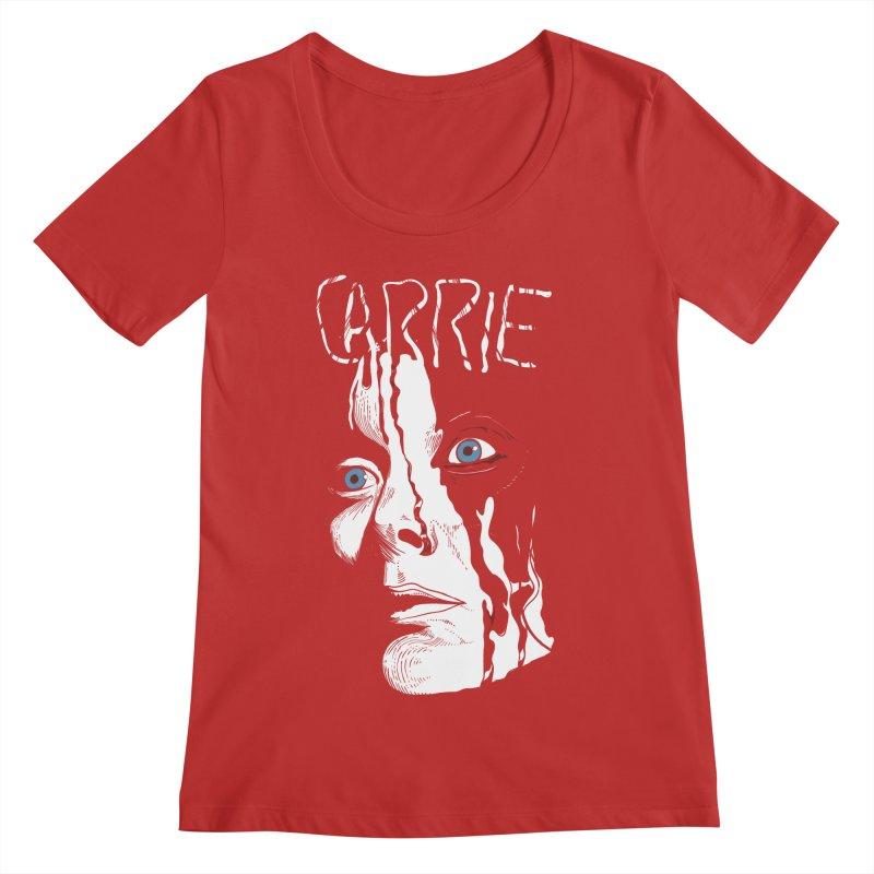 Carrie Women's Regular Scoop Neck by quadrin's Artist Shop