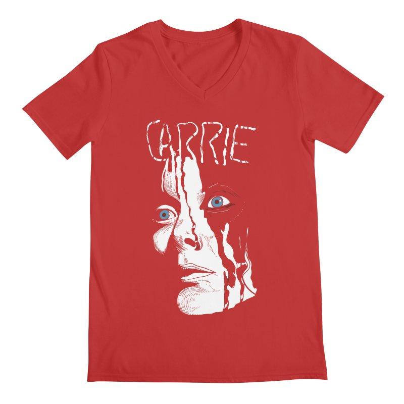 Carrie Men's Regular V-Neck by quadrin's Artist Shop