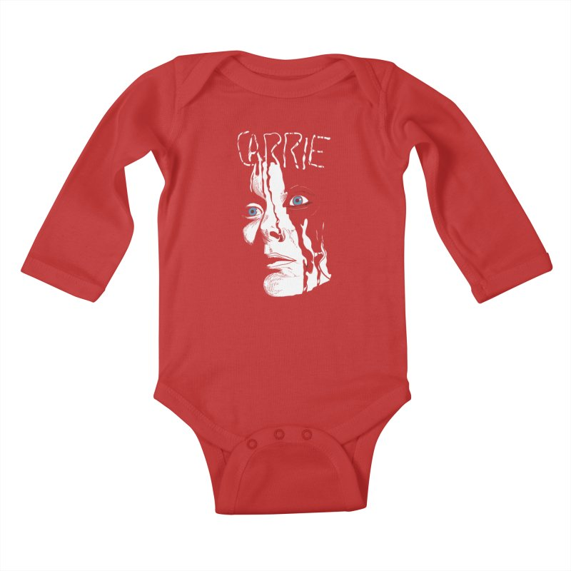 Carrie Kids Baby Longsleeve Bodysuit by quadrin's Artist Shop