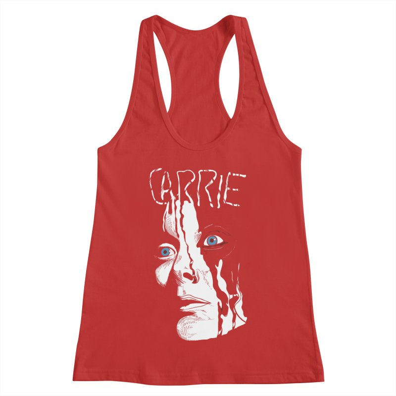 Carrie Women's Racerback Tank by quadrin's Artist Shop
