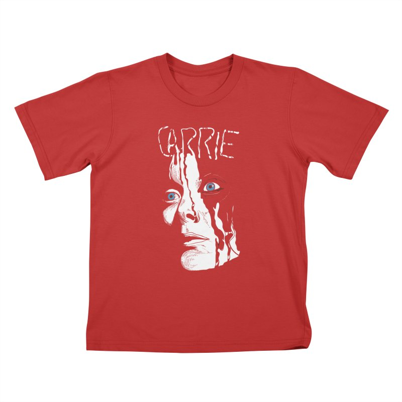 Carrie Kids T-Shirt by quadrin's Artist Shop